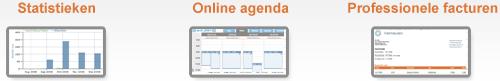 online agenda, professionele facturen & statistieken
